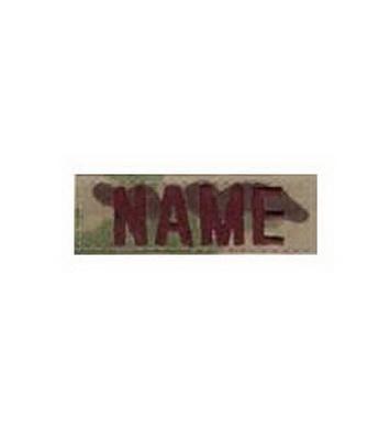 Nášivka jmenovka NAME VELCRO 3 MULTICAM