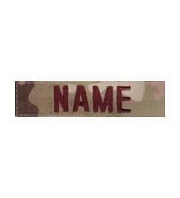 Nášivka jmenovka NAME VELCRO 4 MULTICAM