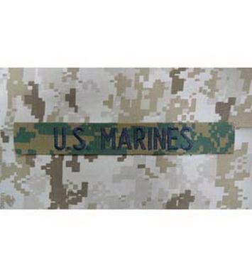 Nášivka U.S MARINES VELCRO MARPAT WOODLAND