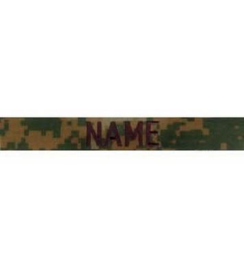 Nášivka jmenovka 3x NAME MARPAT WOODLAND