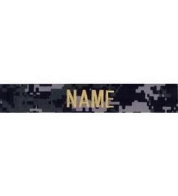 Nášivka jmenovka NAME zlatá ni� DIGITAL NAVY