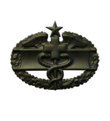 Odznak US COMBAT MEDICAL 2nd AWARD ÈERNÁ