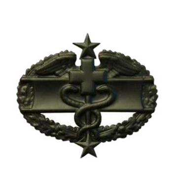 Odznak US COMBAT MEDICAL 3nd AWARD ÈERNÁ