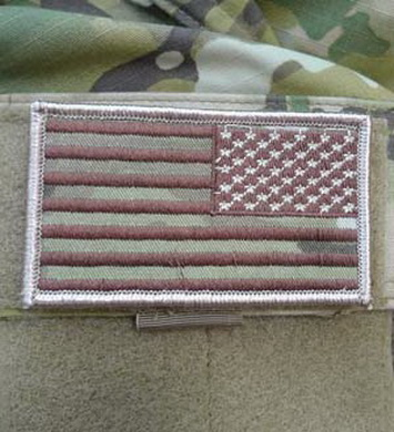 Nášivka vlajka US -MULTICAM