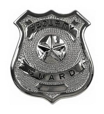 Odznak SECURITY GUARD STØÍBRNÝ