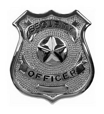 Odznak SECURITY OFFICER STØÍBRNÝ