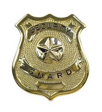 Odznak SECURITY GUARD ZLATÝ