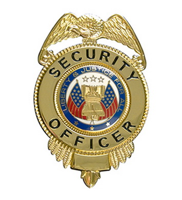 Odznak SECURITY OFFICER ZLATÝ