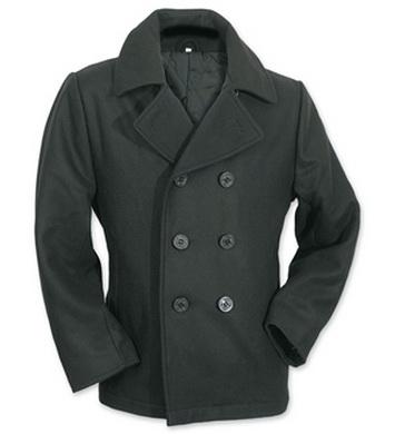 Kabát PEA COAT ÈERNÝ