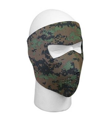 Maska celooblièejová neoprenová oboustraná ÈERNÁ/DIGITAL WOODLAND
