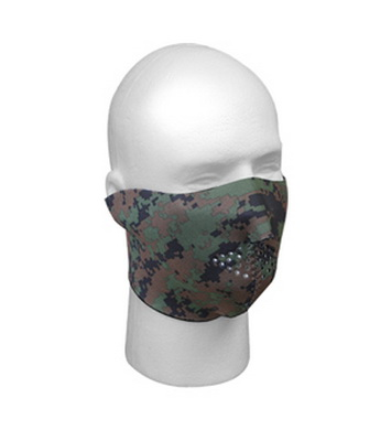 Maska neoprenová oboustraná ÈERNÁ/DIGITAL WOODLAND