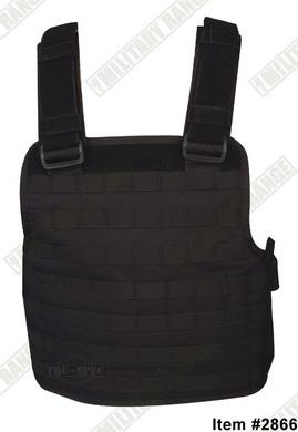 Modular combat vest black