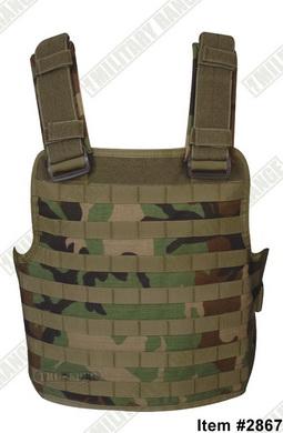 Modular combat vest woodland