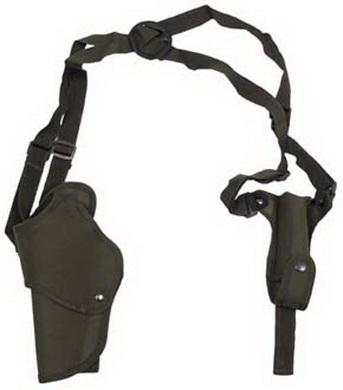 Pouzdro podpažní s kapsou na zásobník levé OLIV