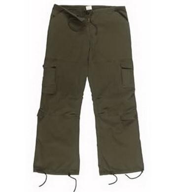 Kalhoty dámské VINTAGE OLIV
