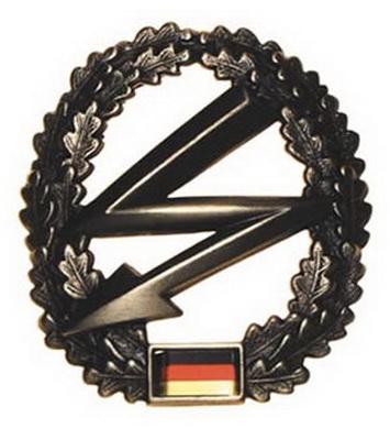 Odznak BW na baret FERNMELDER kovový