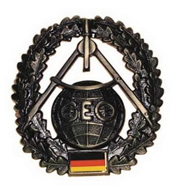 Odznak BW na baret TOPOGRAPHIE kovový