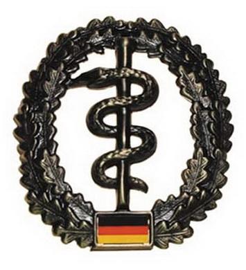 Odznak BW na baret SANITÄTER kovový