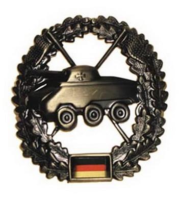 Odznak BW na baret PANZERAUFKLÄRER kovový