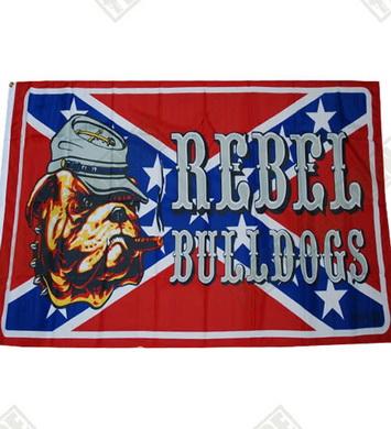 Vlajka REBEL BULLDOG