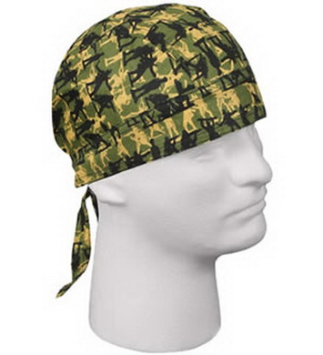 Šátek HEADWRAP ARMY MAN OLIV