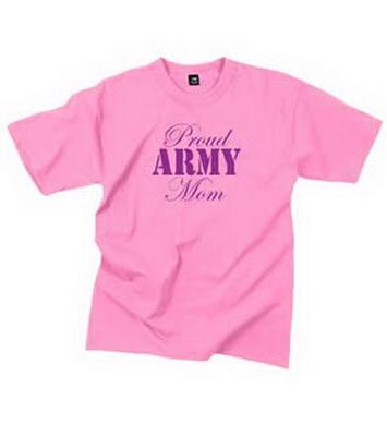 Triko dámské PROUD ARMY MOM RÙŽOVÉ