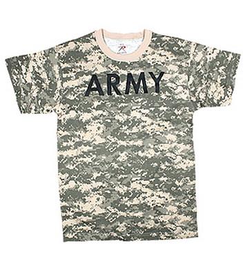 Triko s nápisem ARMY ACU DIGITAL