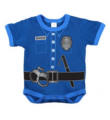Body dìtské POLICE UNIFORM MODRÉ