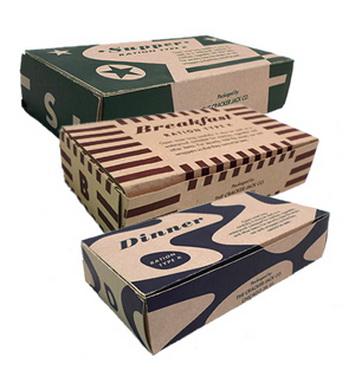 Krabice US papírová na jídlo (prázdný obal)