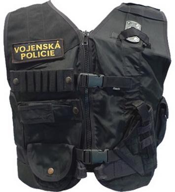 Vesta zásahová SLAÒOVACÍ policejní ÈERNÁ