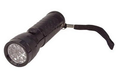 Svítilna 12 LED diod HLINÍKOVÁ ÈERNÁ
