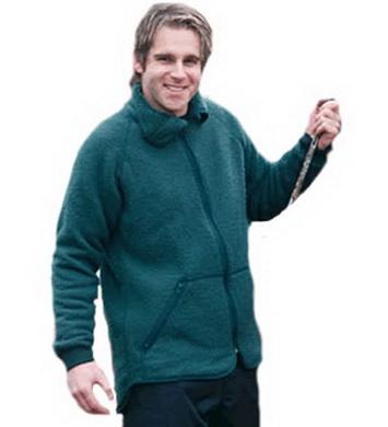 Mikina holandská fleecová ZELENÁ použitá