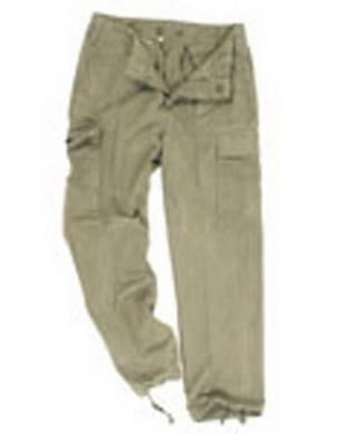 Kalhoty BW moleskin ZELENÉ použité (pas 80cm)