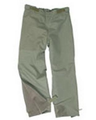 Kalhoty BW zateplené celorozepínací ZELENÉ nové (pas do 80cm)