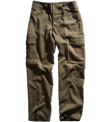 Kalhoty RAKOUSKÉ polní OLIV použité