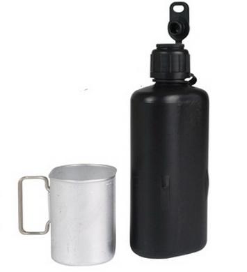 Láhev polní švýcarská M84 s pítkem použitá
