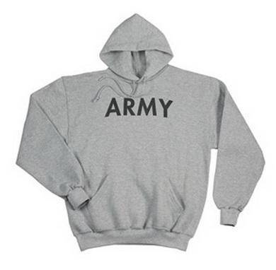 Mikina s kapucí US ARMY ŠEDÁ