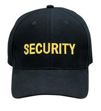 Kšiltovka se zlatým nápisem SECURITY
