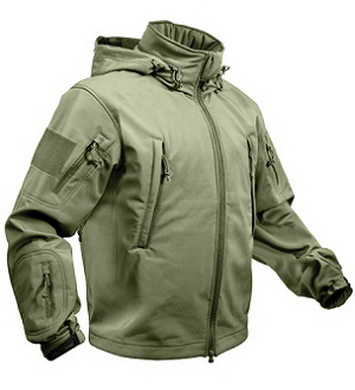 Bunda TACTICAL softshell s kapucí ZELENÁ