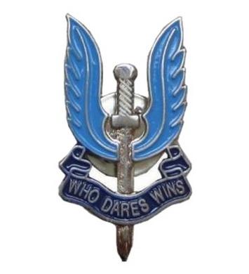Odznak britský SAS - meè s køídly lakovaný