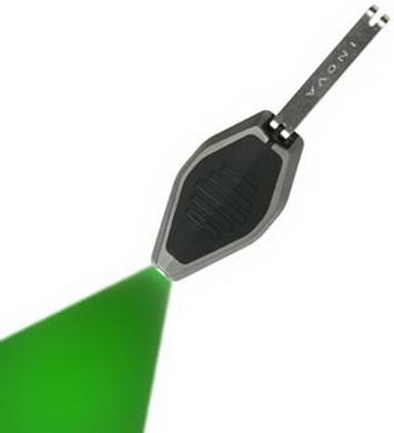 Svítilna MICRO/klíèenka èerná LED ZELENÁ