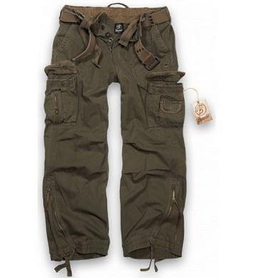 Kalhoty ROYAL vintage ZELENÉ