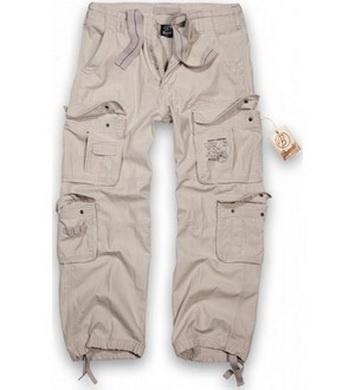 Kalhoty PURE vintage BÍLÉ