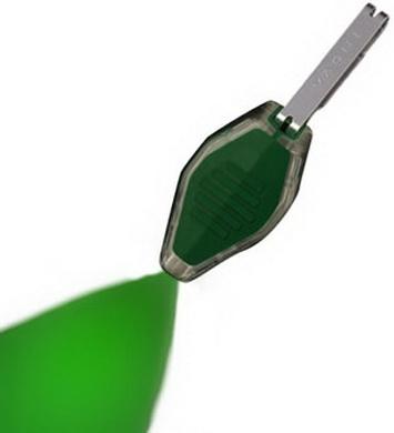 Svítilna MICRO/klíèenka zelená/prùhledná LED ZELENÁ