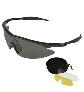 Brýle sportovní v pouzdru 3 ks skel