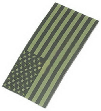 Nášivka velcro US vlajka OLIV IFF King Arms