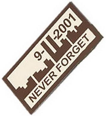 Nášivka velcro 9-11-2001 NEVER FORGET