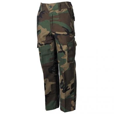 Kalhoty dìtské US BDU WOODLAND