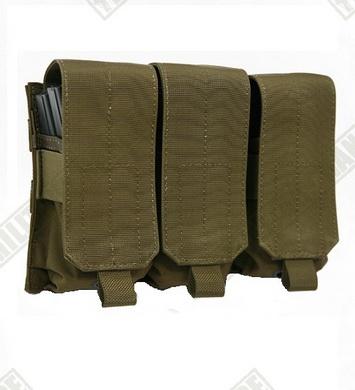 Sumka MOLLE trojitá pro zásobníky M4/M16 Coyote Brown Pantac