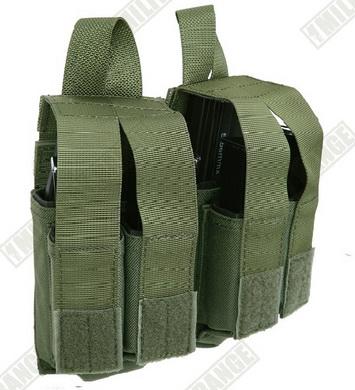 Sumka MOLLE 4 zásobníky do pistole a 2 M4 zásobníky zelená
